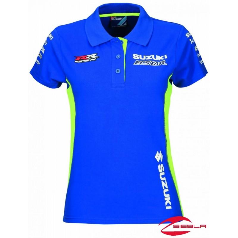 Motogp Team Polo Shirt Ladies 2018 Suzuki Siebla
