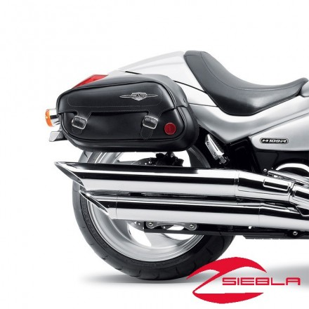 Classic Leather Saddlebags by Suzuki M800