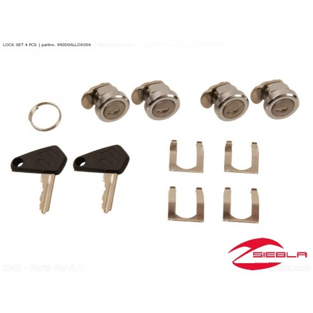 LOCK SET 4 PCS. ALUBOX