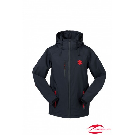 TEAM JACKET BLACK WATERPROOF