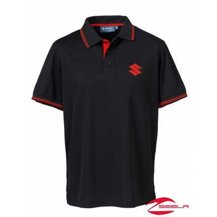 TEAM POLO SHIRT MEN BLACK