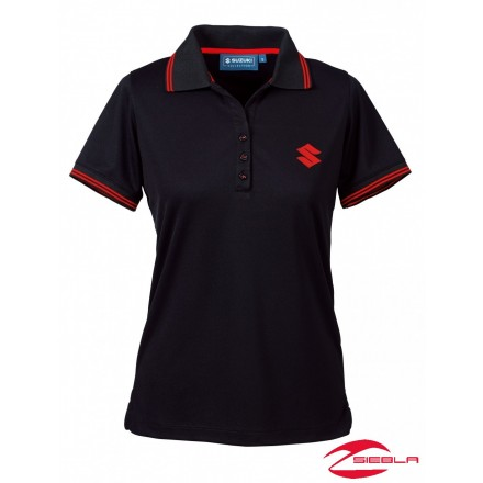 TEAM POLO SHIRT LADIES BLACK